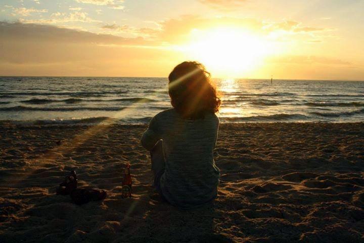 Sunset somewhere on an Australian beach